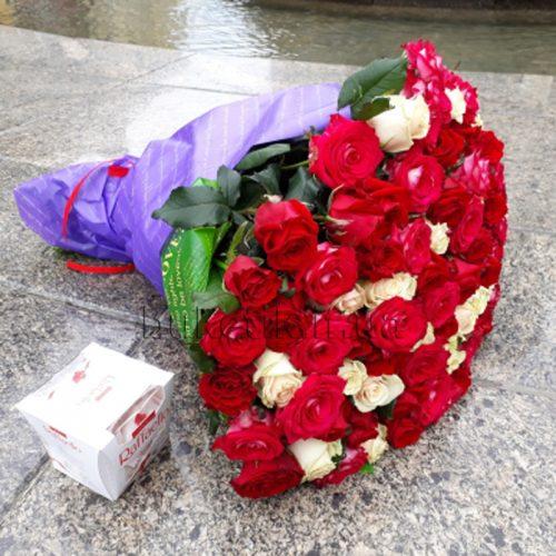Фото товару 101 троянда мікс 3 сорти