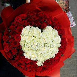 Фото товару 201 троянда серцем