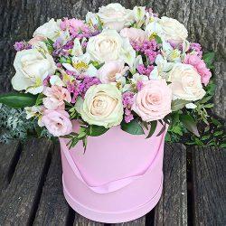 мікс букет з троянд та альстромерій в ІФ фото