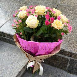 Фото товару Біла троянда і спрей