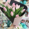 букет 15 рожевих тюльпанів