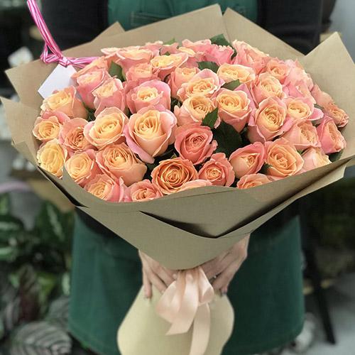 """51 коралова троянда """"Міс Піггі"""" фото"""