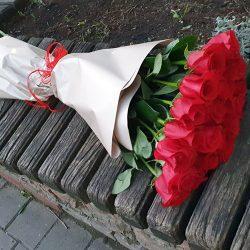 букет 25 голландських троянд