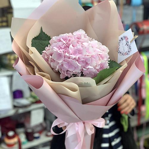рожева гортензія фото букета