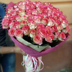 """101 рожева троянда """"Джумілія"""" фото"""