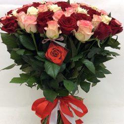 "101 троянда ""Рожева перлина"" фото"