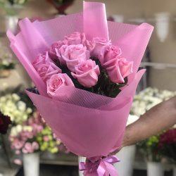 """11 рожевих троянд """"Аква"""" фото"""